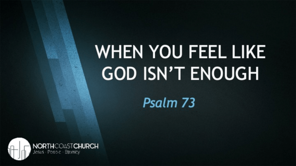 When you feel like God isn't enough